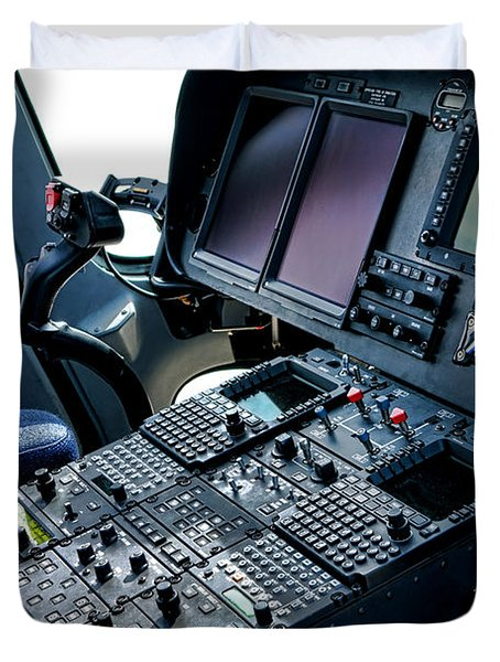 Aw139 Cockpit Duvet Cover
