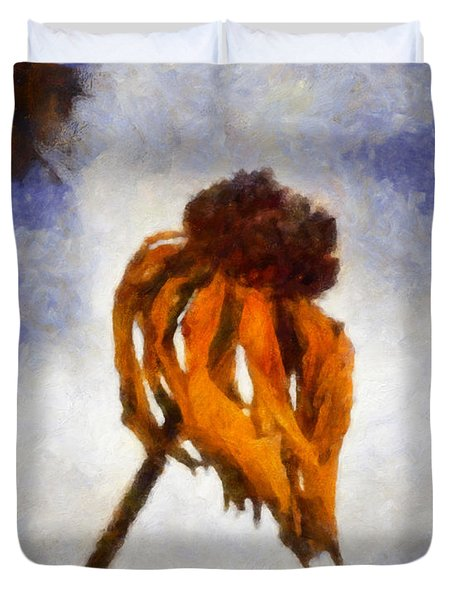 Duvet Cover featuring the painting Awaken A New Life by Joe Misrasi