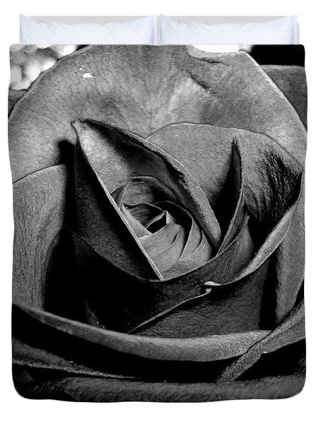 Awakened Black Rose Duvet Cover