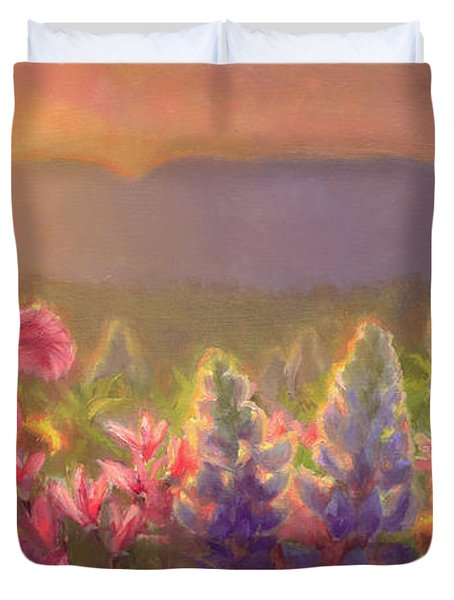 Awakening - Mt Susitna Spring - Sleeping Lady Duvet Cover