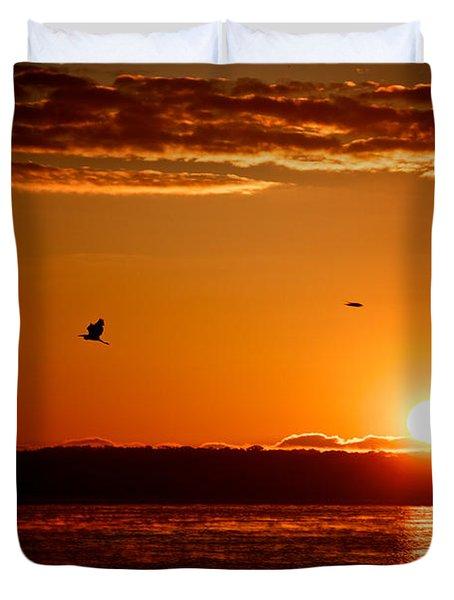 Awakening Sun Duvet Cover