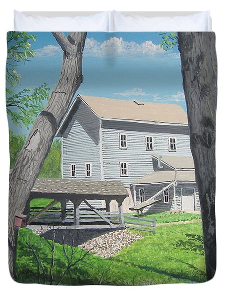 Award-winning Painting Of Beckman's Mill Duvet Cover by Norm Starks