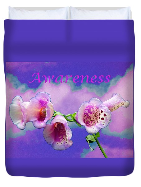 Awareness Duvet Cover