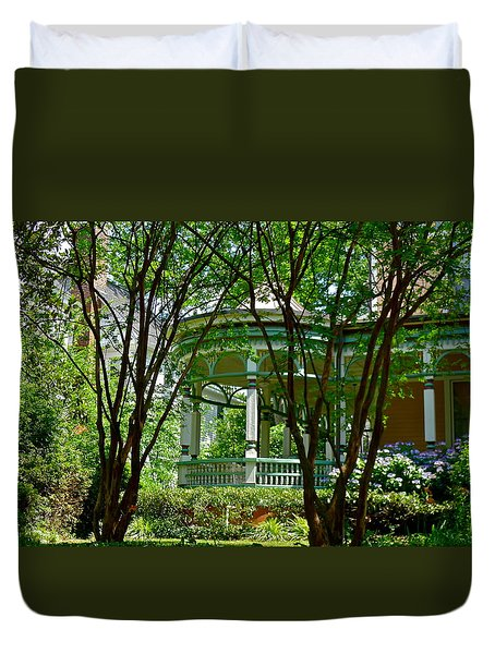 Awesome Victorian Porch Duvet Cover