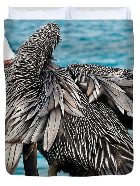 Awkward Pelican Duvet Cover by Jean Noren