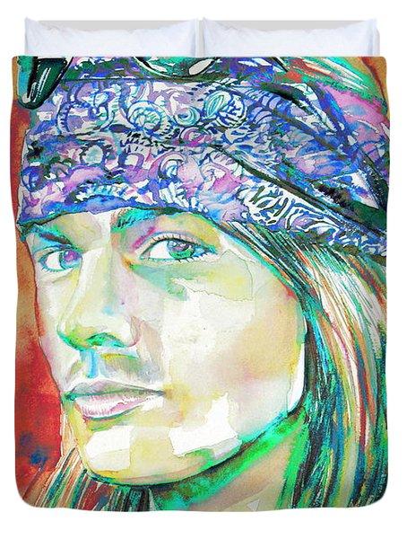 Axl Rose Portrait.2 Duvet Cover
