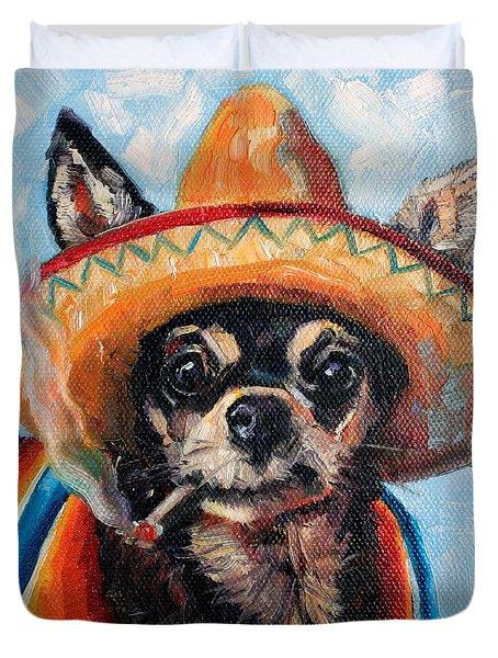 Ay Chihuahua Duvet Cover
