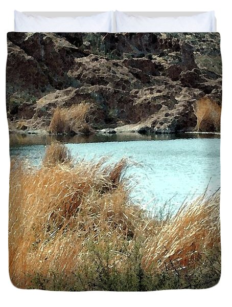 Ayer Lake Duvet Cover by Kathleen Struckle