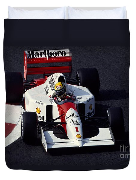 Ayrton Senna. 1992 French Grand Prix Duvet Cover