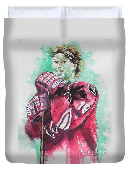 Az Coyotes ...hockey Player Shane Doan Duvet Cover by Chrisann Ellis
