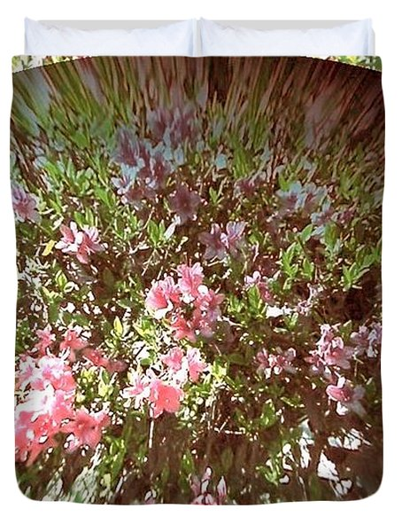 Azalea Bouquet Duvet Cover