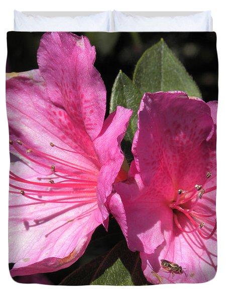 Azaleas Bee Duvet Cover