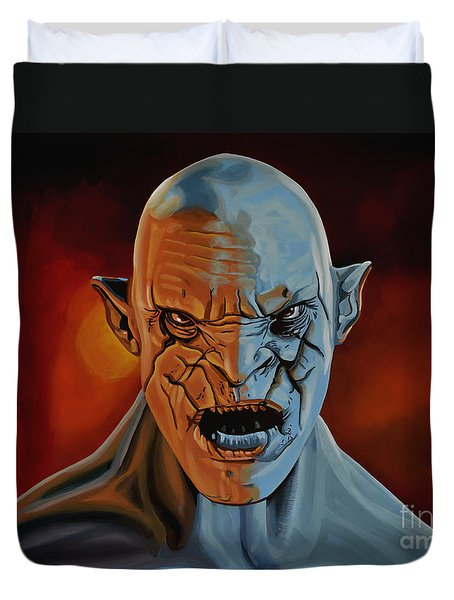 Azog The Orc Painting Duvet Cover