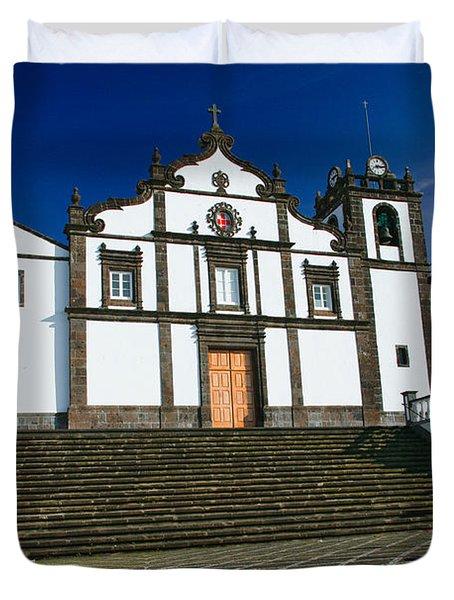 Azorean Church Duvet Cover by Gaspar Avila