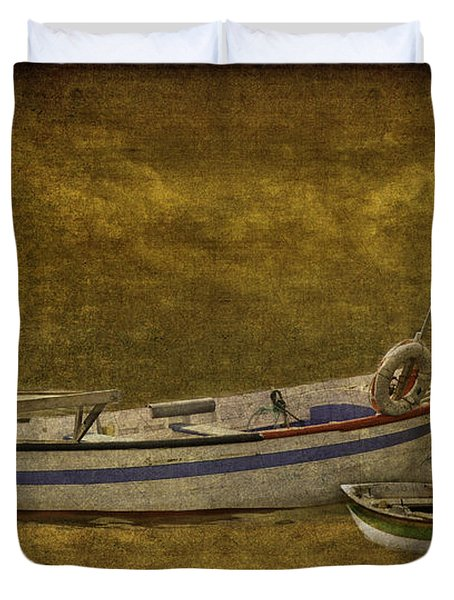 Azorean Fishing Boats Duvet Cover