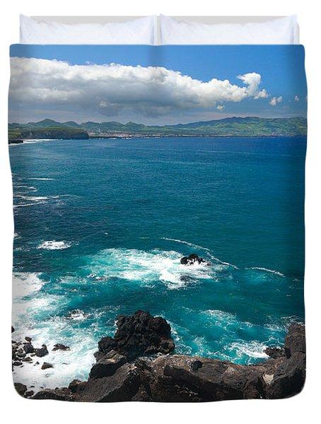 Azores Islands Ocean Duvet Cover by Gaspar Avila