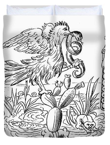 Aztec Priests, C1325 Duvet Cover