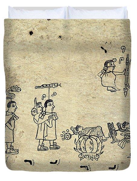 Aztec Priests Duvet Cover