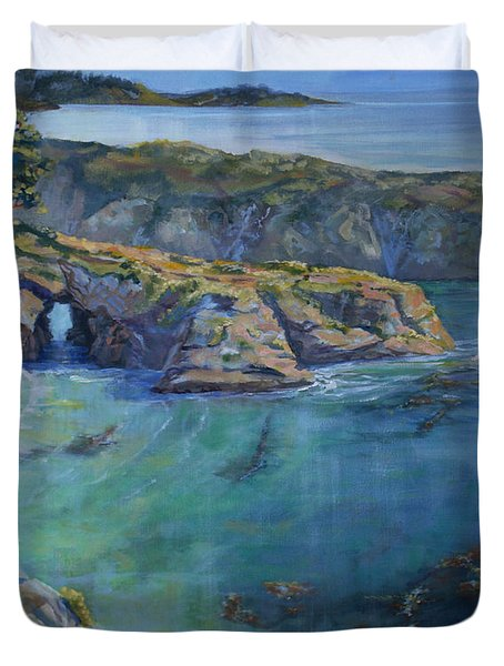Azure Cove Duvet Cover by Heather Coen