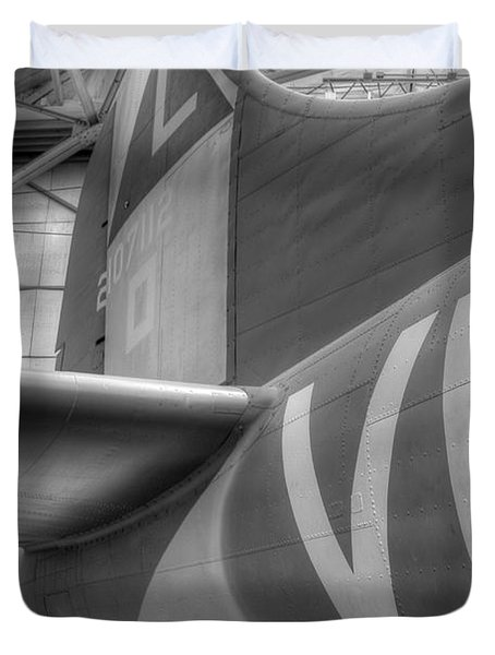 B-17 Bomber Tail Duvet Cover