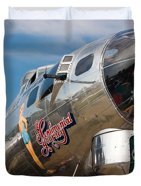 B-17 Flying Fortress Duvet Cover by Adam Romanowicz