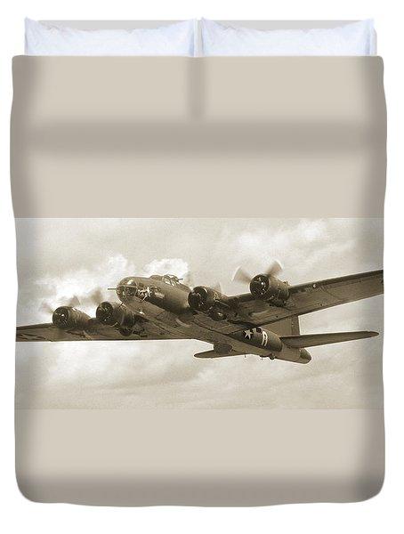 B-17 Flying Fortress Duvet Cover by Mike McGlothlen