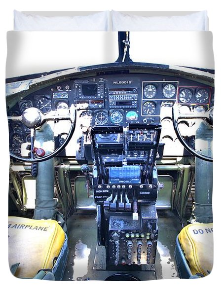 B-17 Front Office Duvet Cover