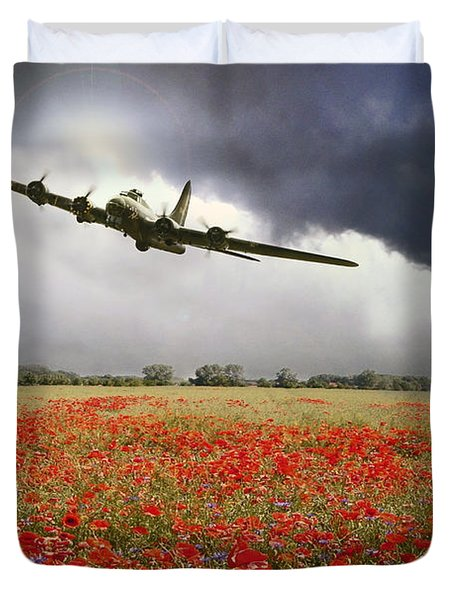B-17 Poppy Pride Duvet Cover