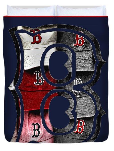B For Bosox - Boston Red Sox Duvet Cover by Joann Vitali