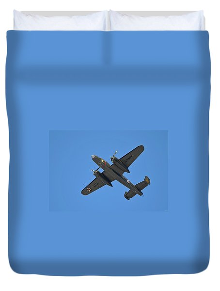 B25 Mitchell Wwii Bomber On 70th Anniversary Of Doolittle Raid Over Florida 21 April 2013 Duvet Cover