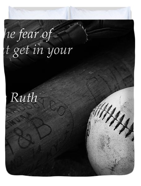 Babe Ruth Baseball Quote Duvet Cover