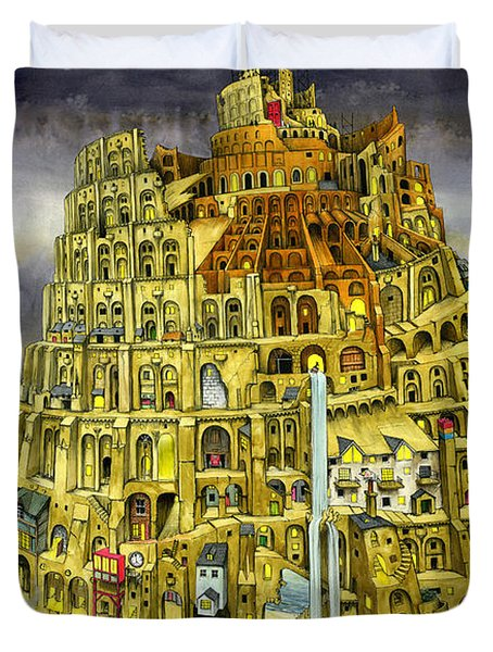 Babel Duvet Cover by Colin Thompson