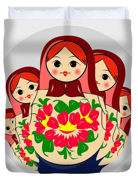 Babushka Duvet Cover by Mark Ashkenazi