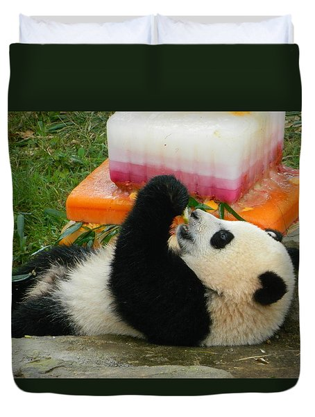 Baby Bao Bao's First Birthday Duvet Cover by Emmy Marie Vickers