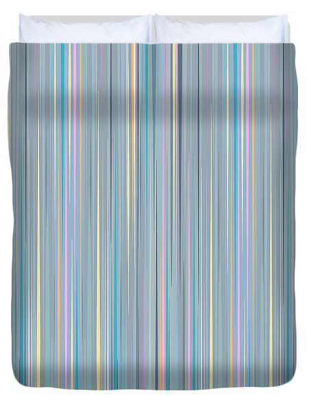 Random Stripes - Baby Blues Duvet Cover