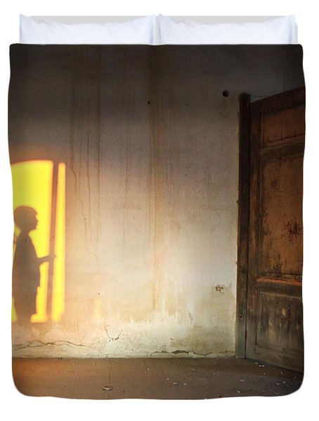 Baby Do Not Open That Door Duvet Cover
