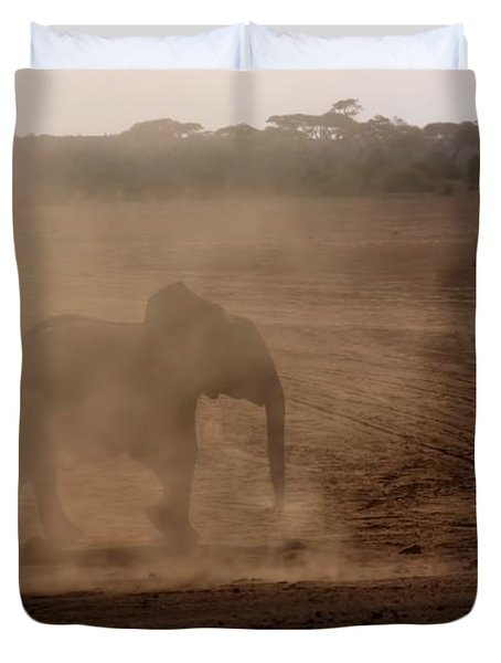 Duvet Cover featuring the photograph Baby Elephant  by Amanda Stadther