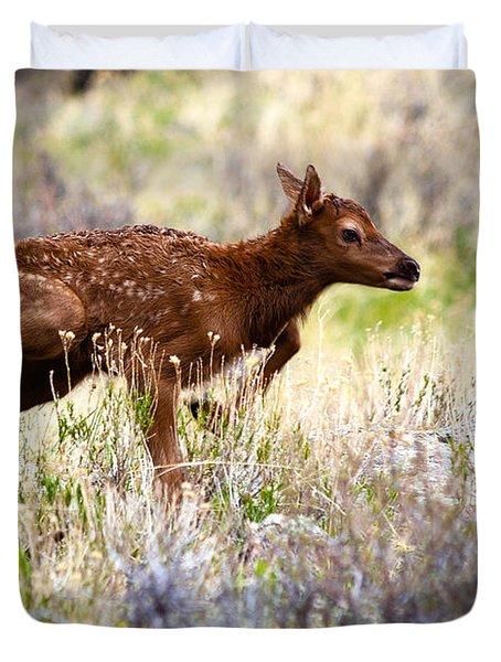 Baby Elk Duvet Cover