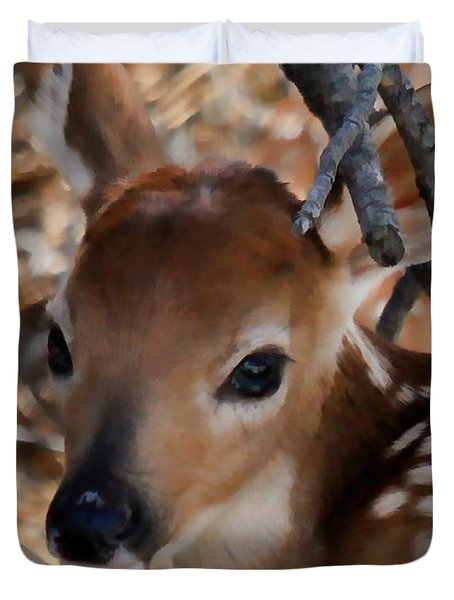 Baby Face Fawn Duvet Cover