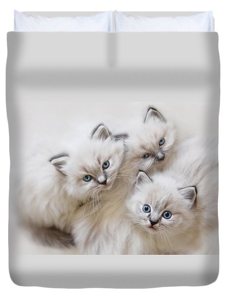 Baby Faces Duvet Cover by Lori Deiter