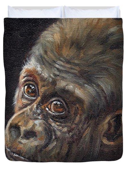 Baby Gorilla Duvet Cover