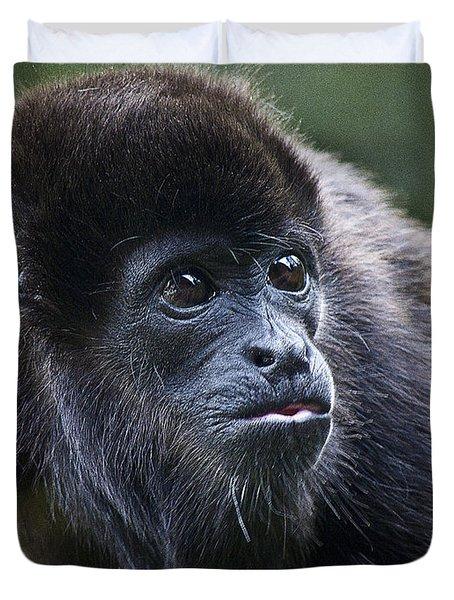 Baby Howler Monkey  Duvet Cover by Heiko Koehrer-Wagner