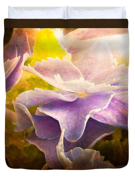 Baby Hydrangeas Duvet Cover by Bob Orsillo