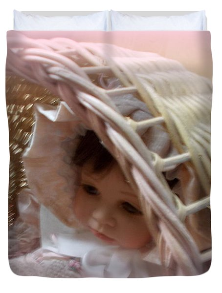 Baby In Pink Duvet Cover