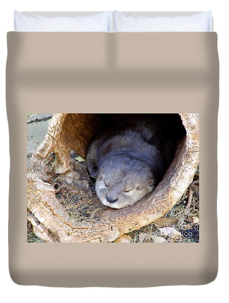 Baby Otter Duvet Cover by Mary Deal