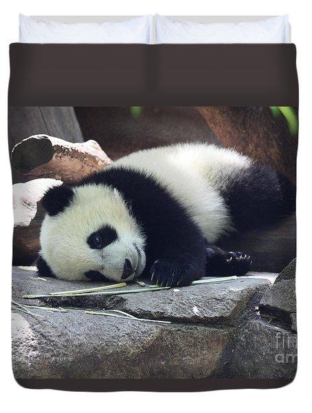 Baby Panda Duvet Cover