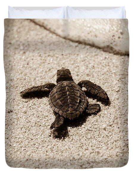 Baby Sea Turtle Duvet Cover