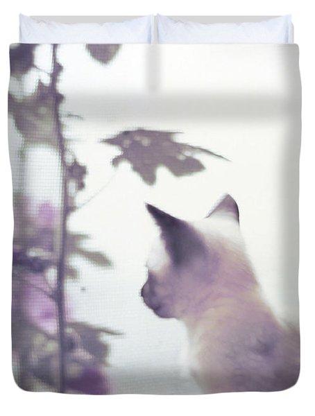 Baby Siamese Kitten Duvet Cover