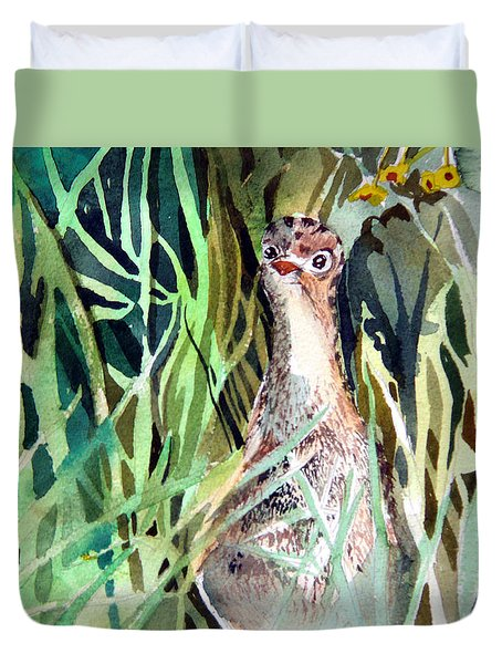 Baby Wild Turkey Duvet Cover by Mindy Newman