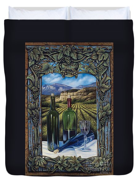 Bacchus Vineyard Duvet Cover by Ricardo Chavez-Mendez